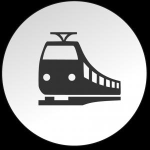 Icon Bahn - Anfahrt mit der Bahn