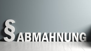 Fachanwalt München Abmahnung Buchstaben